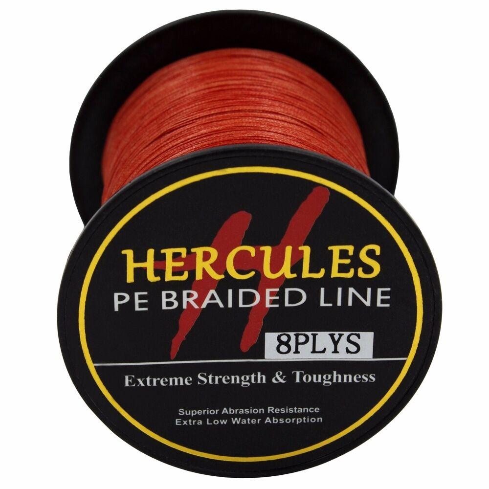 8-brins-ligne-de-peche-tressee-100M-10-300lb-Super-Hercules-Braid-Fishing-Line miniature 127