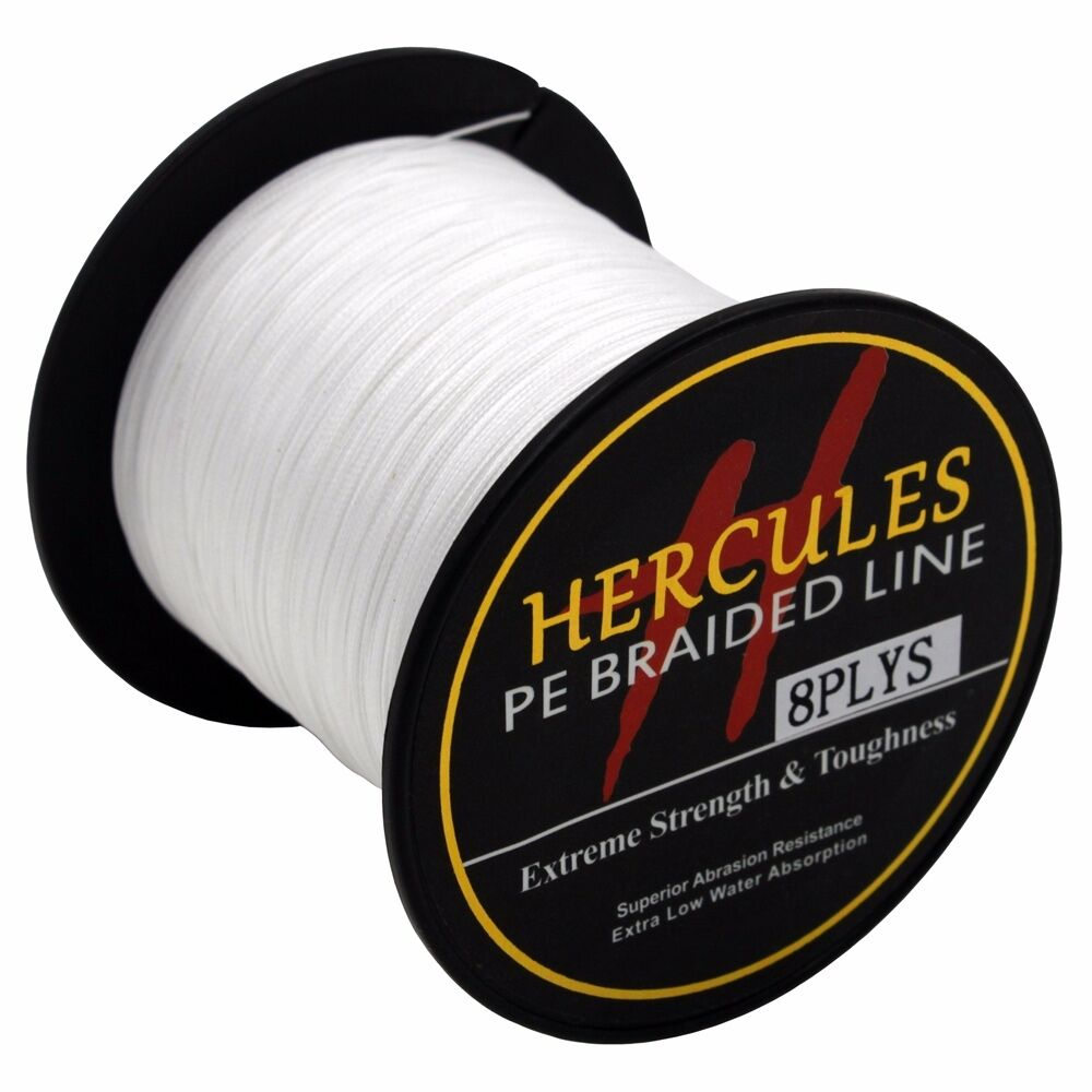 8-brins-ligne-de-peche-tressee-100M-10-300lb-Super-Hercules-Braid-Fishing-Line miniature 12