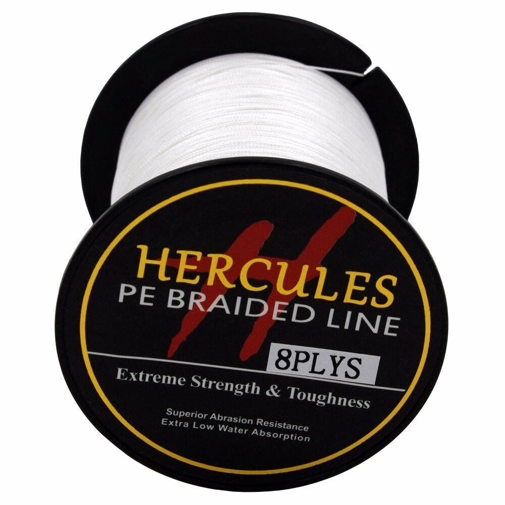 8-brins-ligne-de-peche-tressee-100M-10-300lb-Super-Hercules-Braid-Fishing-Line miniature 11