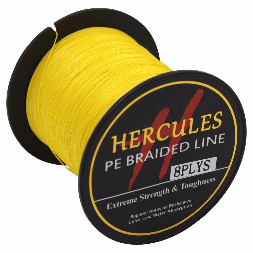 8-brins-ligne-de-peche-tressee-100M-10-300lb-Super-Hercules-Braid-Fishing-Line miniature 56