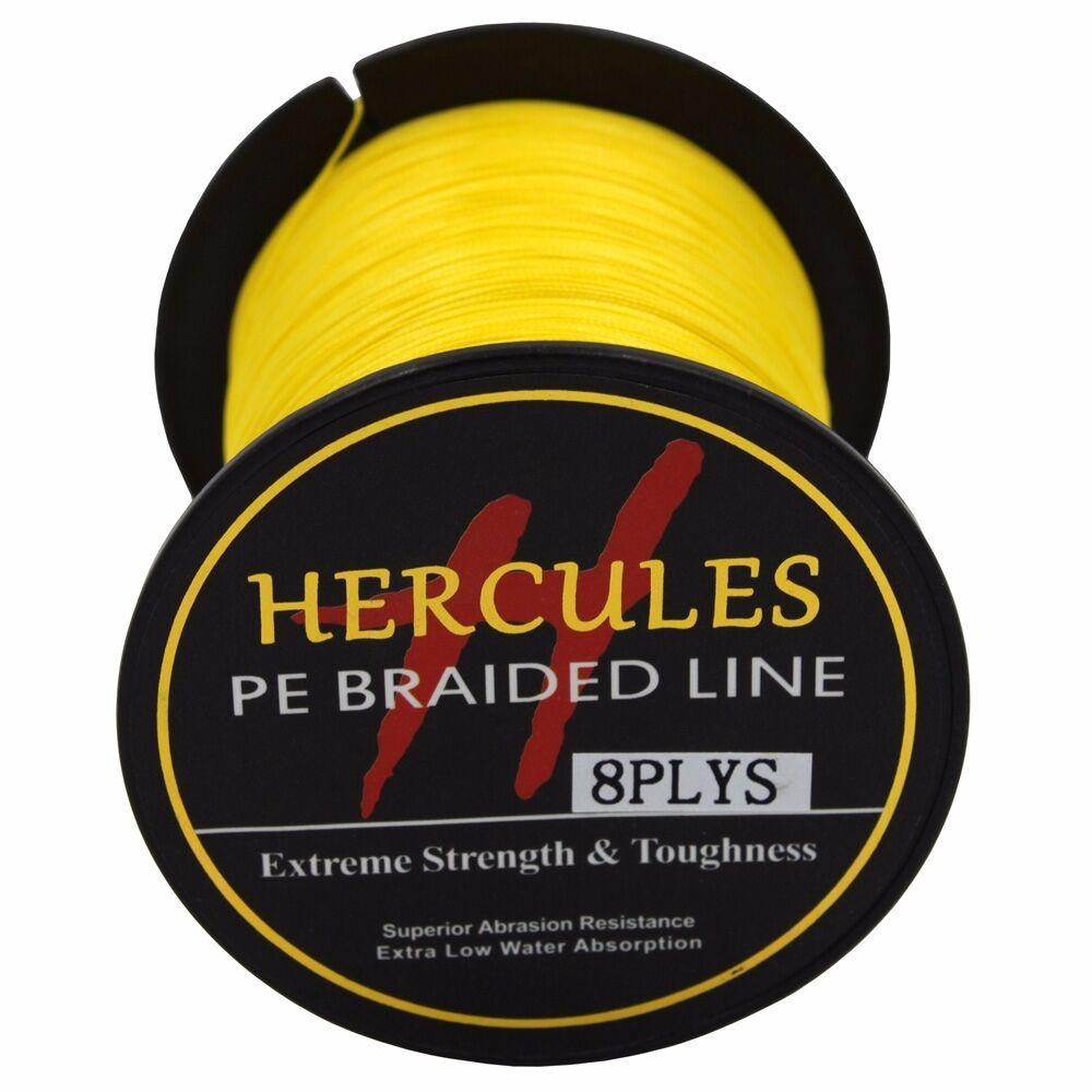 8-brins-ligne-de-peche-tressee-100M-10-300lb-Super-Hercules-Braid-Fishing-Line miniature 55