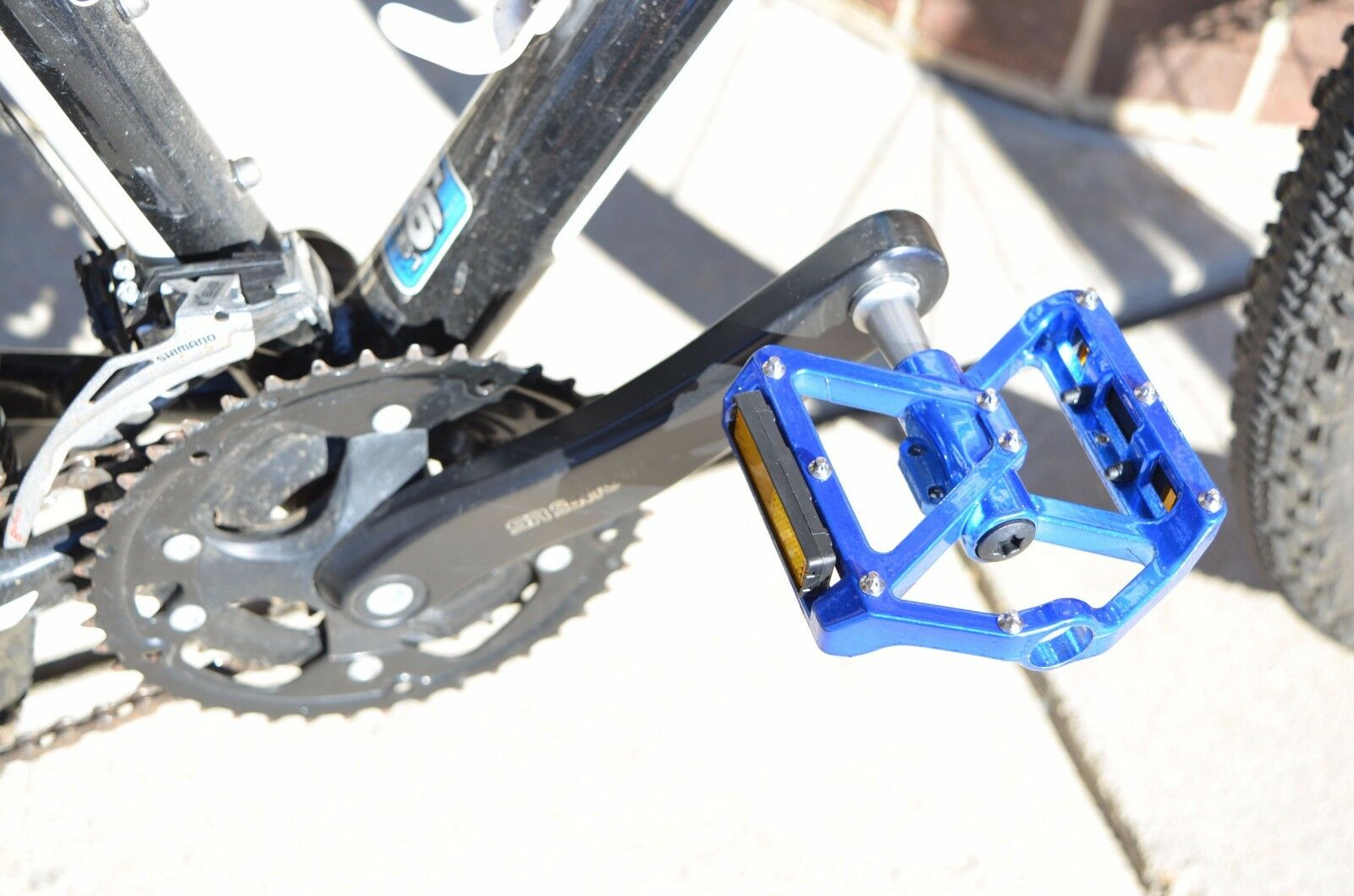 """One Pair Mountain Road Bike Bicycle Aluminum Alloy Platform Bearing Pedals 9//16/"""""""