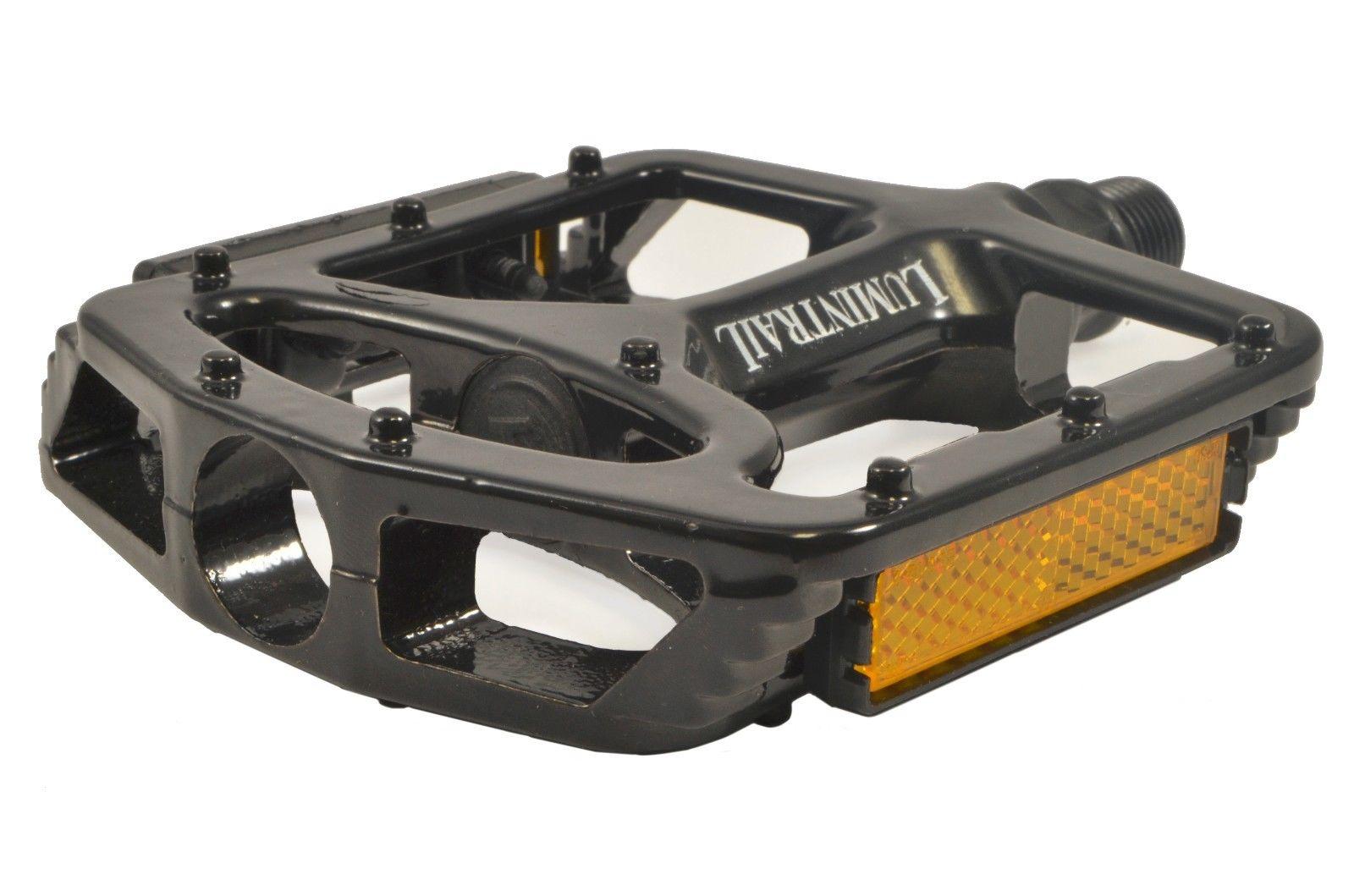 Lumintrail-Big-Foot-Bike-Pedals-Road-MTB-BMX-Aluminum-Alloy-Flat-Platform-9-16-034 thumbnail 7
