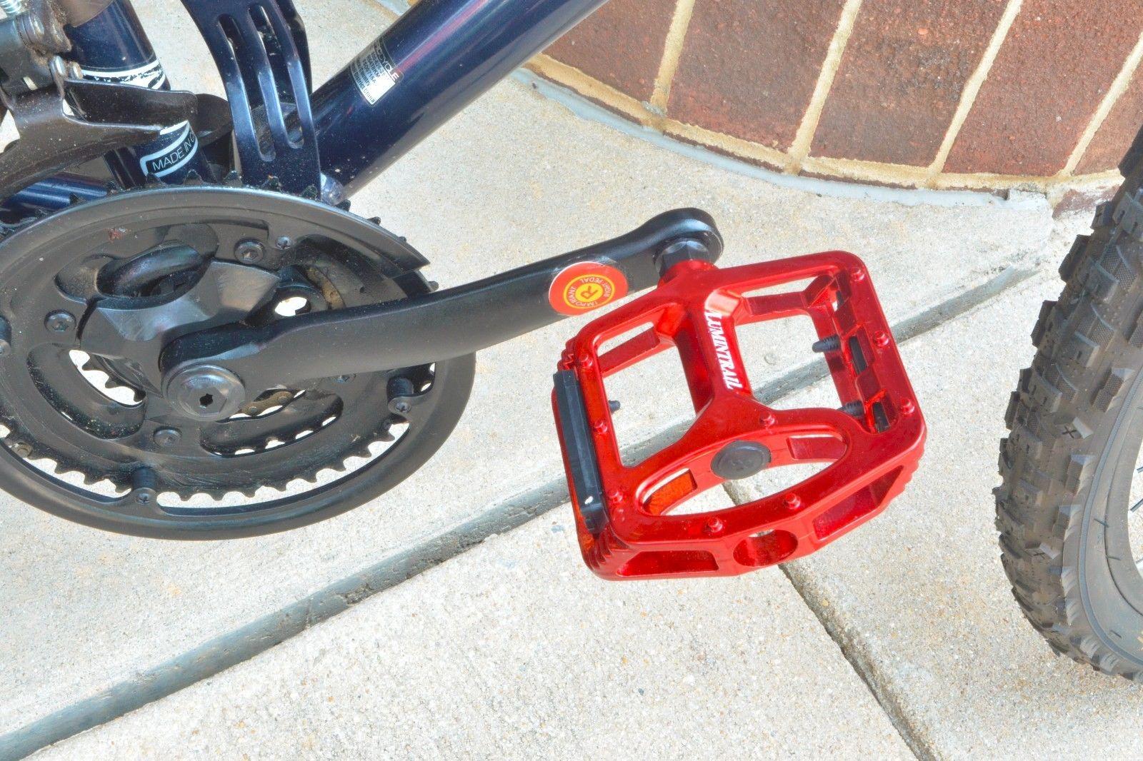 Lumintrail-Big-Foot-Bike-Pedals-Road-MTB-BMX-Aluminum-Alloy-Flat-Platform-9-16-034 thumbnail 19