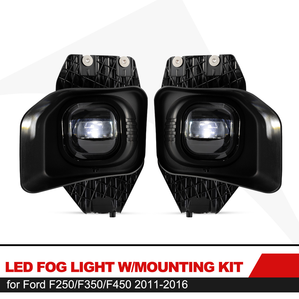 LED Fog Lights,BUNKER INDUST 15W CREE Fog Lamp Assembly Kit Compatible with Ford F250 F350 F450 2005-2007 Accessories Plug/&Play