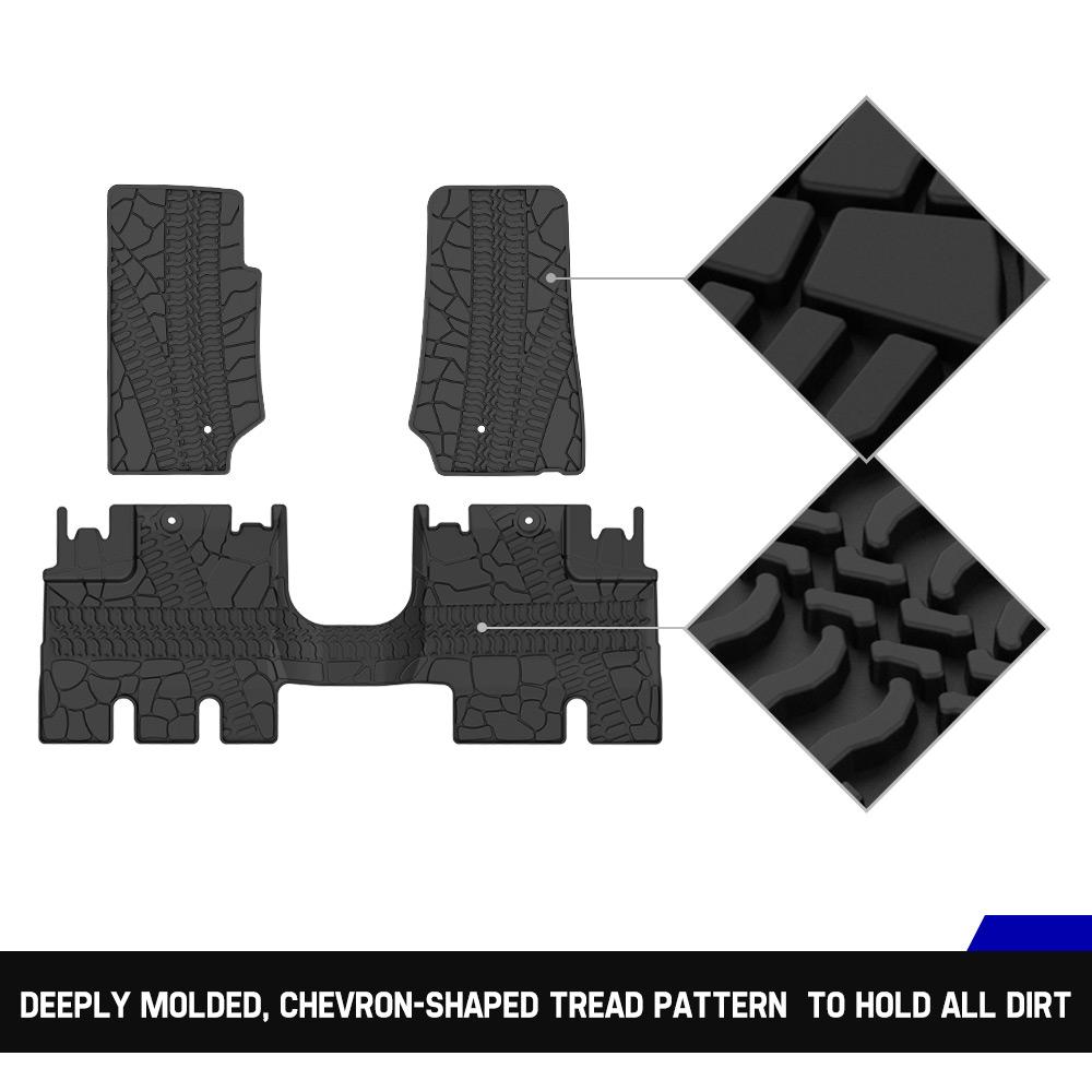 CAR Floor Carpet KIWI MASTER TPE Floor Liners Slush Mat Floor Mats ...