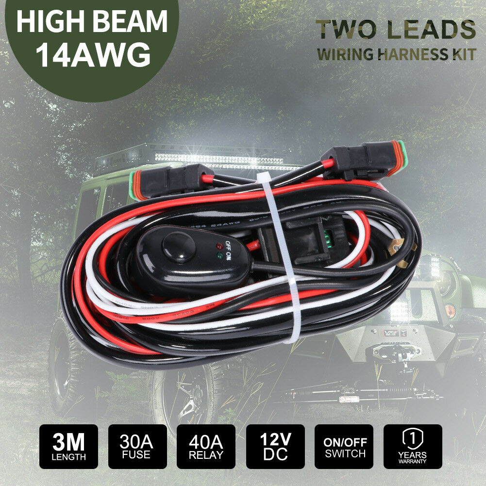 Details about Wiring Loom Harness Kit 12V DC Relay 30A Fuse Switch on