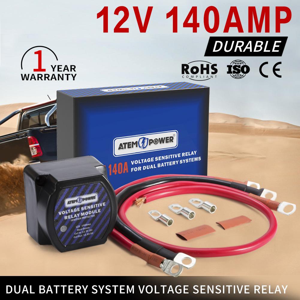 Smart Dual Battery 140a Isolator Vsr Voltage Sensitive Manual Guide