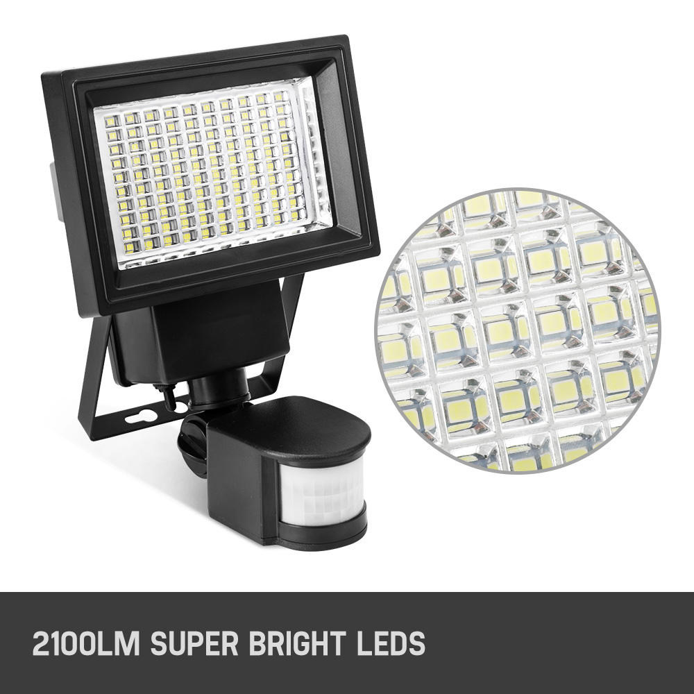 2x Solar Sensor Security Light 100led Lamp Motion