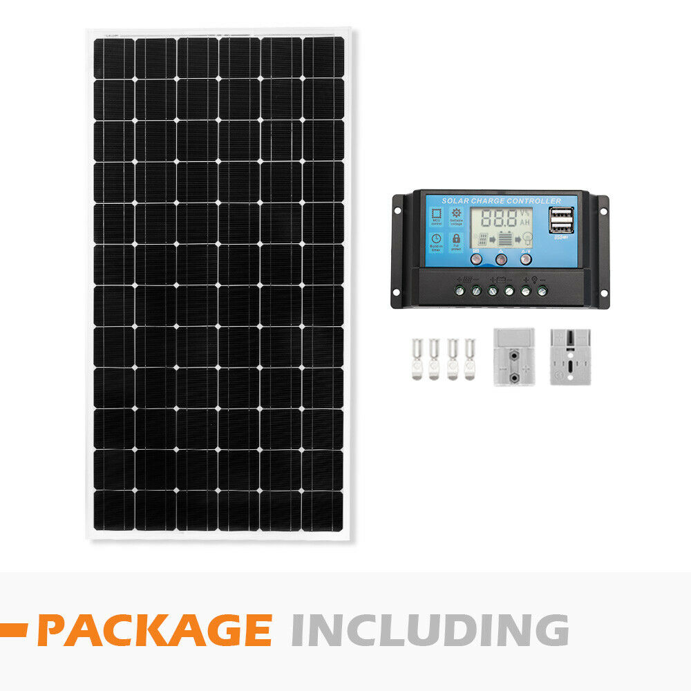 12V-250W-200W-100W-60W-10W-Solar-Panel-Kit-MONO-Caravan-Camping-Power-Charging thumbnail 84