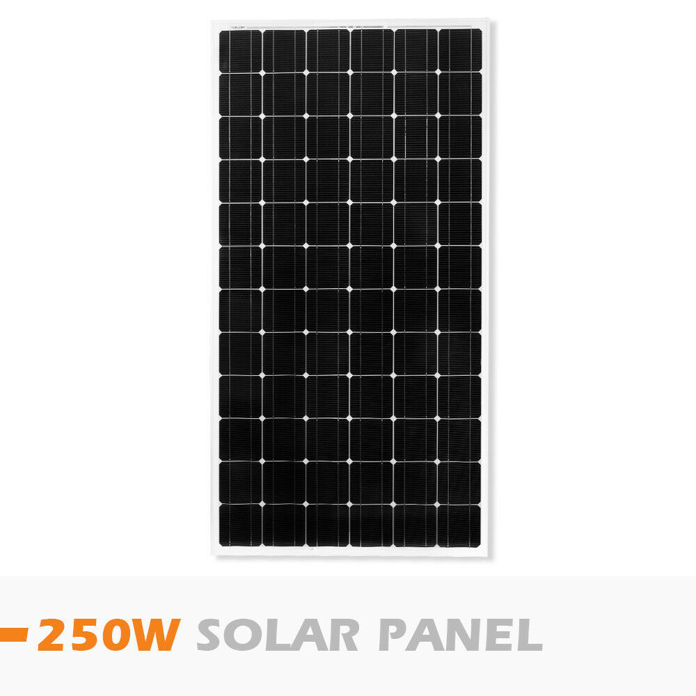 12V-250W-200W-100W-60W-10W-Solar-Panel-Kit-MONO-Caravan-Camping-Power-Charging thumbnail 77