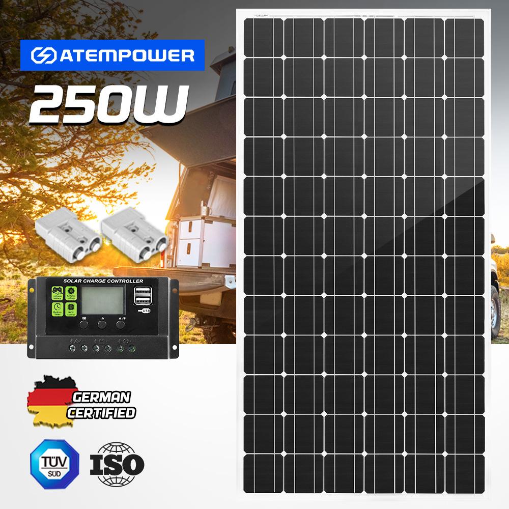 12V-250W-200W-130W-Solar-Panel-Mono-Caravan-Camping-Home-Battery-Charging-Power thumbnail 81