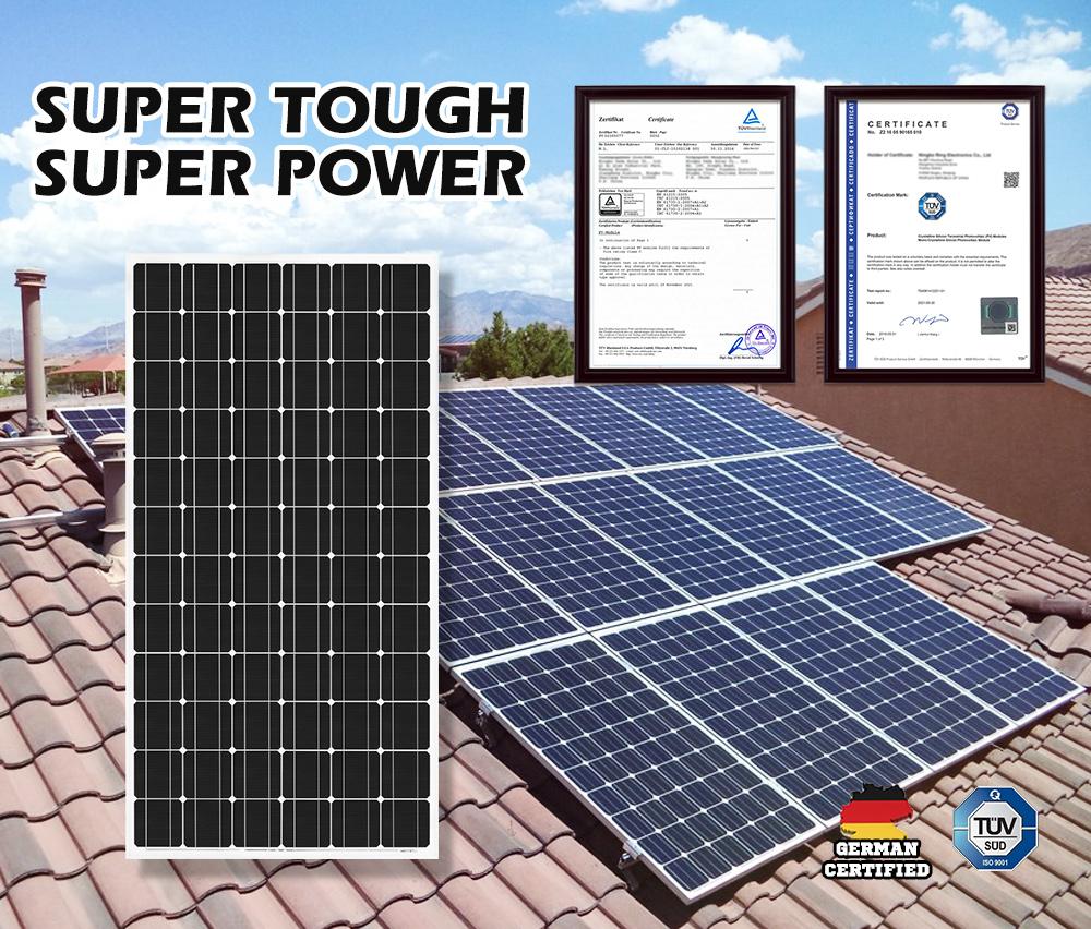 12V-250W-200W-130W-Solar-Panel-Mono-Caravan-Camping-Home-Battery-Charging-Power thumbnail 90