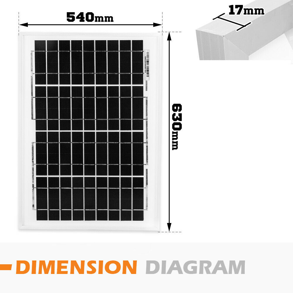 12V-250W-200W-100W-60W-10W-Solar-Panel-Kit-MONO-Caravan-Camping-Power-Charging thumbnail 28