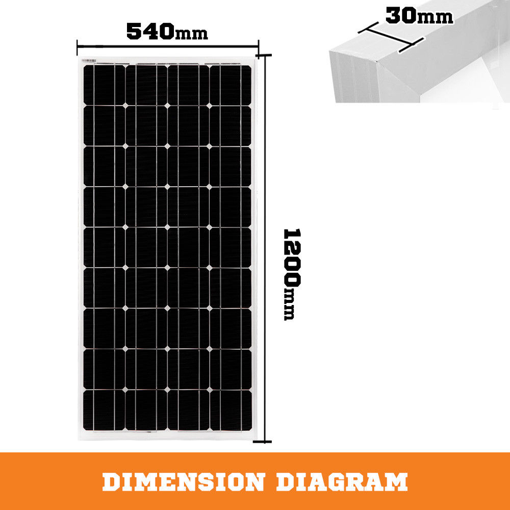 12V-250W-200W-100W-60W-10W-Solar-Panel-Kit-MONO-Caravan-Camping-Power-Charging thumbnail 39
