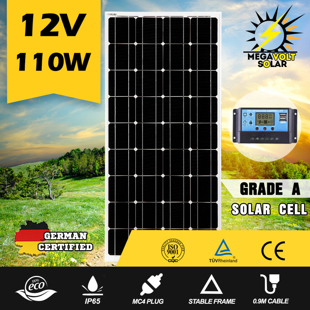 12V-250W-200W-100W-60W-10W-Solar-Panel-Kit-MONO-Caravan-Camping-Power-Charging thumbnail 31