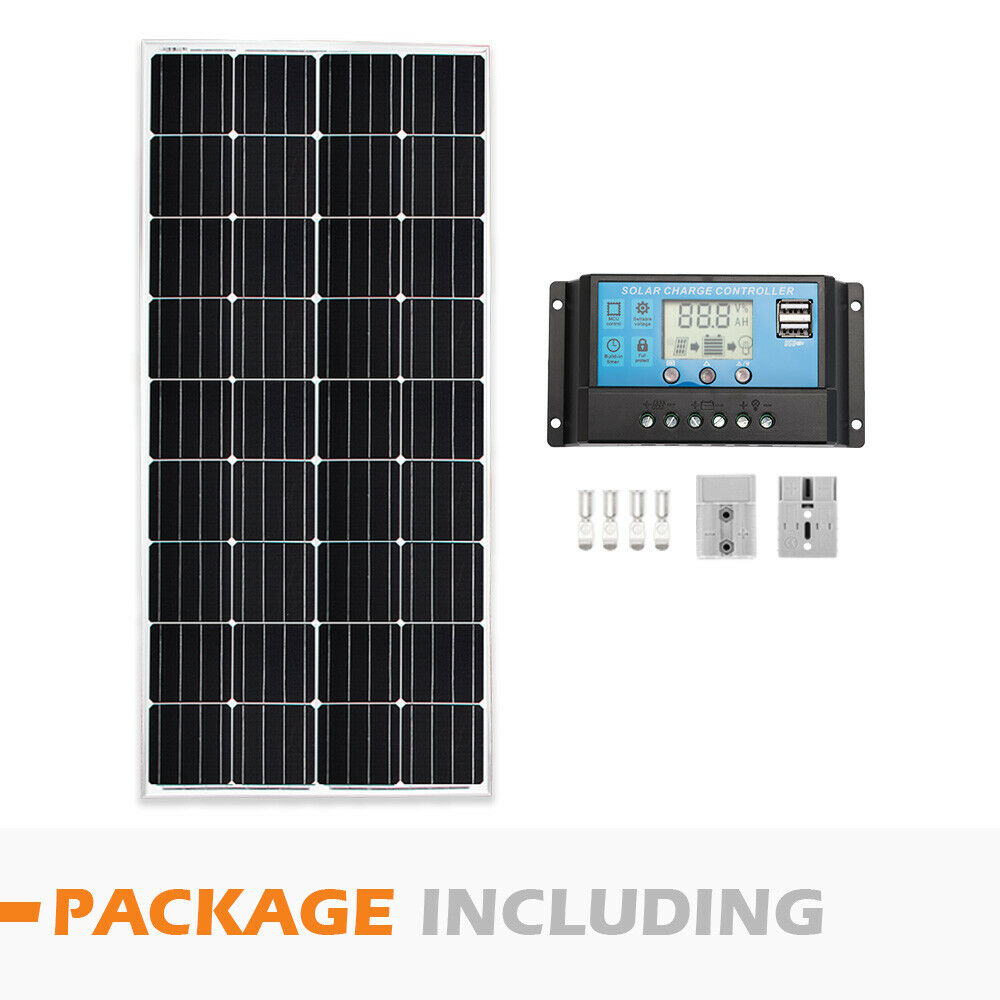 12V-250W-200W-100W-60W-10W-Solar-Panel-Kit-MONO-Caravan-Camping-Power-Charging thumbnail 61