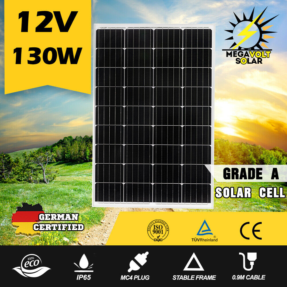 12V-250W-200W-100W-60W-10W-Solar-Panel-Kit-MONO-Caravan-Camping-Power-Charging thumbnail 41