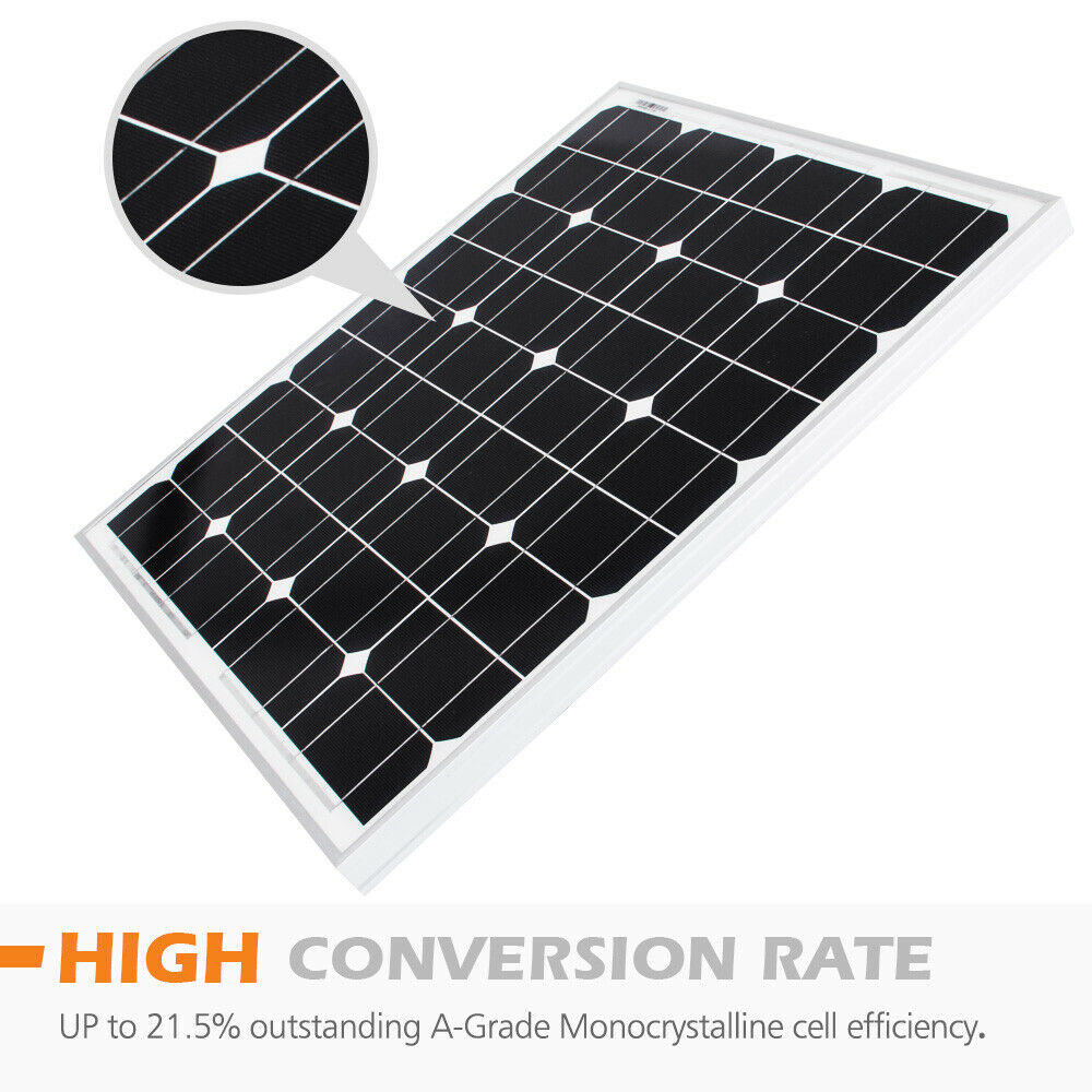 12V-250W-200W-100W-60W-10W-Solar-Panel-Kit-MONO-Caravan-Camping-Power-Charging thumbnail 108