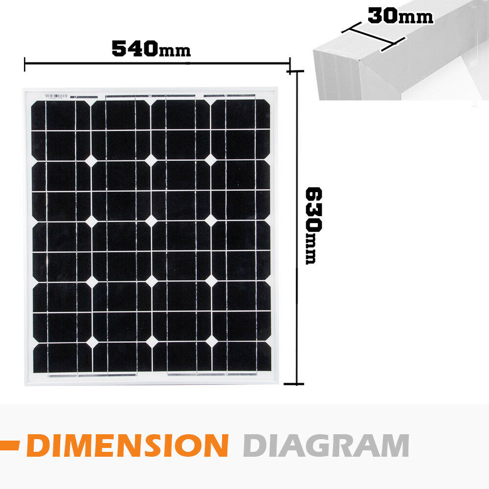 12V-250W-200W-100W-60W-10W-Solar-Panel-Kit-MONO-Caravan-Camping-Power-Charging thumbnail 114