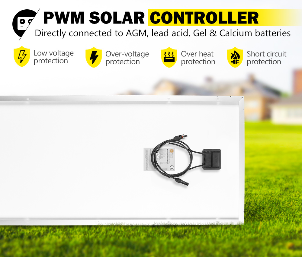 12V-250W-200W-130W-Solar-Panel-Mono-Caravan-Camping-Home-Battery-Charging-Power thumbnail 16