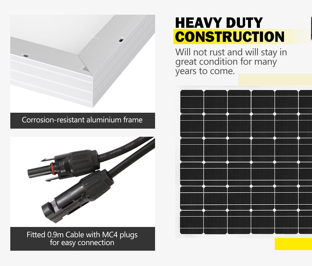 12V-250W-200W-130W-Solar-Panel-Mono-Caravan-Camping-Home-Battery-Charging-Power thumbnail 17