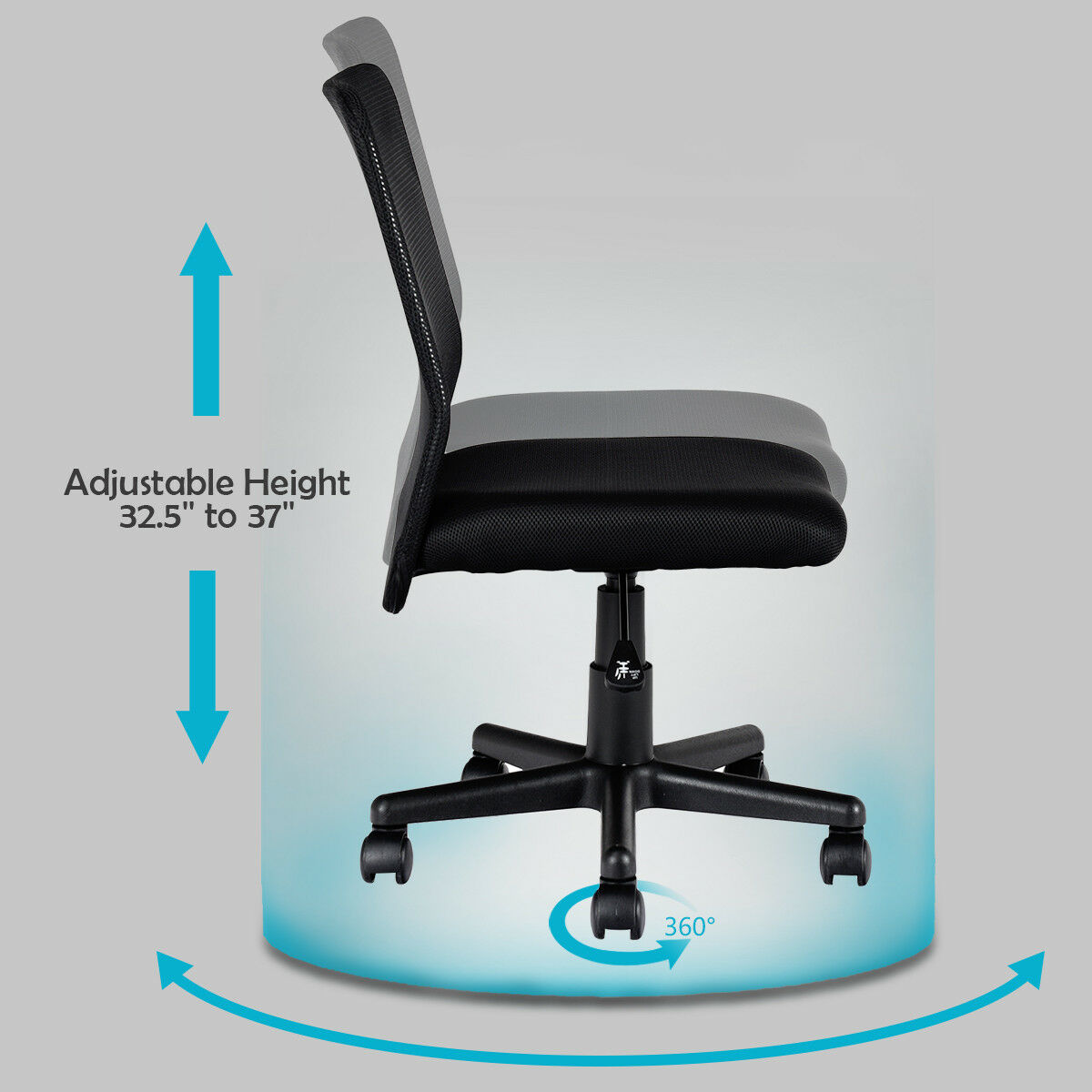 Awesome New Mid Back Adjustable Ergonomic Mesh Swivel Durable Office Desk Task Chair Download Free Architecture Designs Grimeyleaguecom