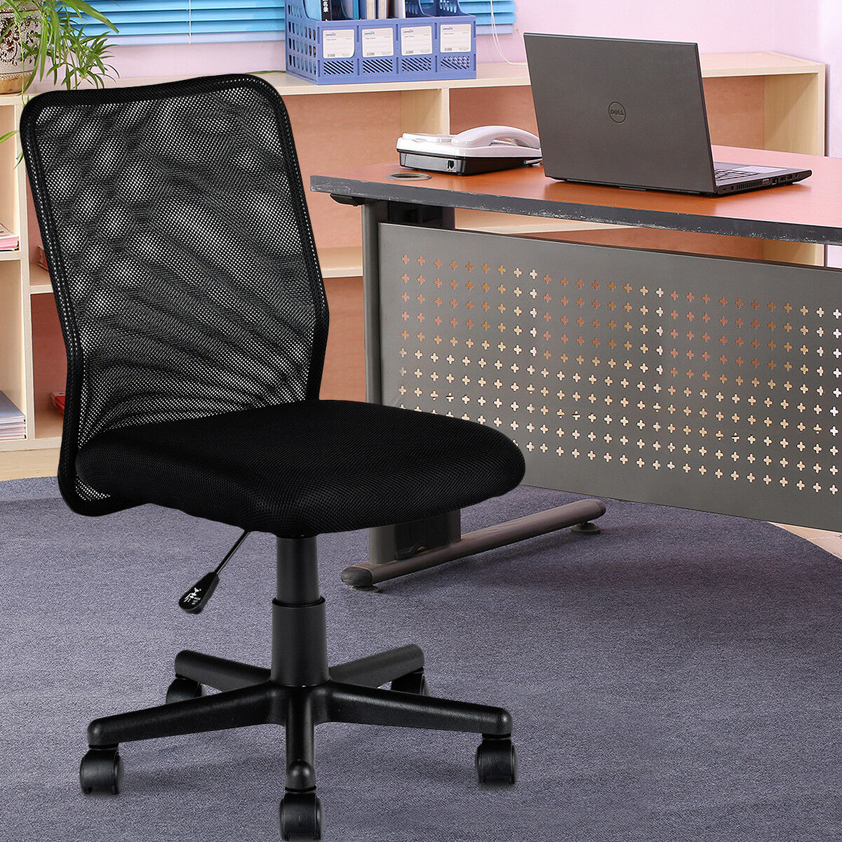 Phenomenal New Mid Back Adjustable Ergonomic Mesh Swivel Durable Office Desk Task Chair Download Free Architecture Designs Grimeyleaguecom