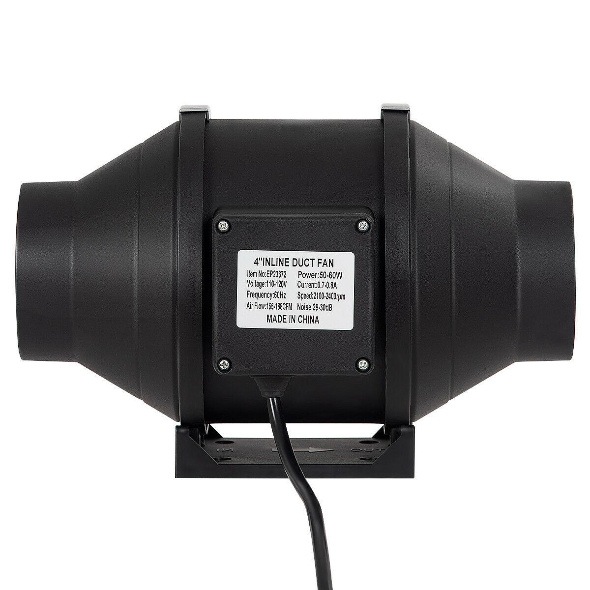 4-034-6-034-8-034-Inch-Inline-Duct-Fan-Ventilation-Exhaust-Plastic-Fan-w-Speed-Controller thumbnail 6