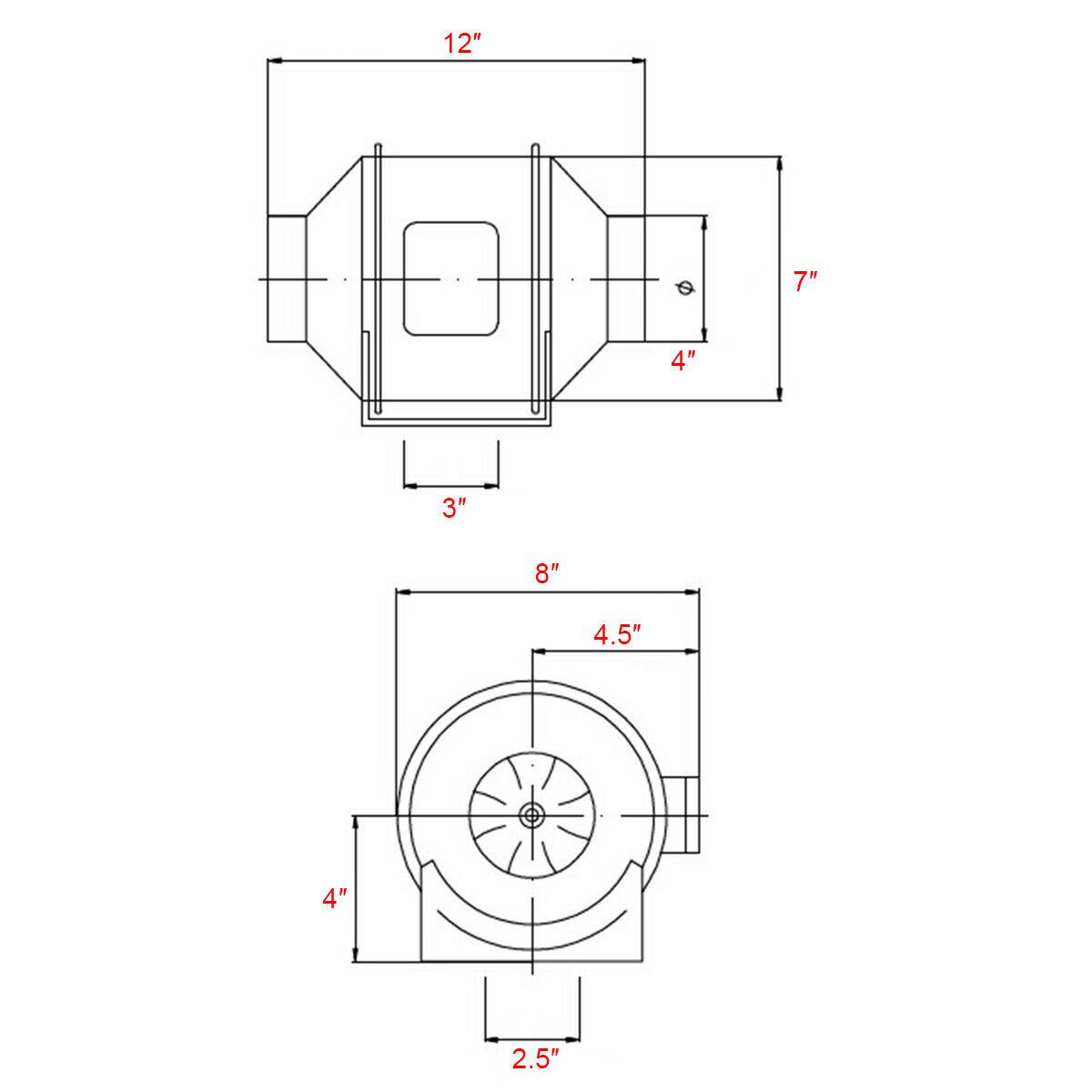 4-034-6-034-8-034-Inch-Inline-Duct-Fan-Ventilation-Exhaust-Plastic-Fan-w-Speed-Controller thumbnail 3