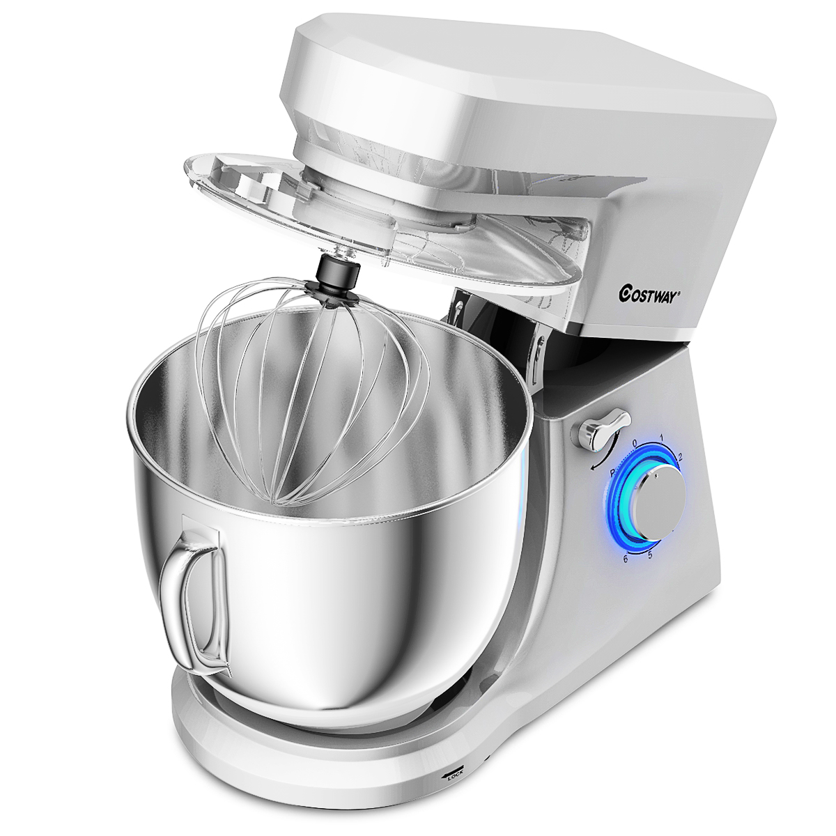 Tilt-Head Stand Mixer 7.5Quart 660W 6-Speed Electric Stainle