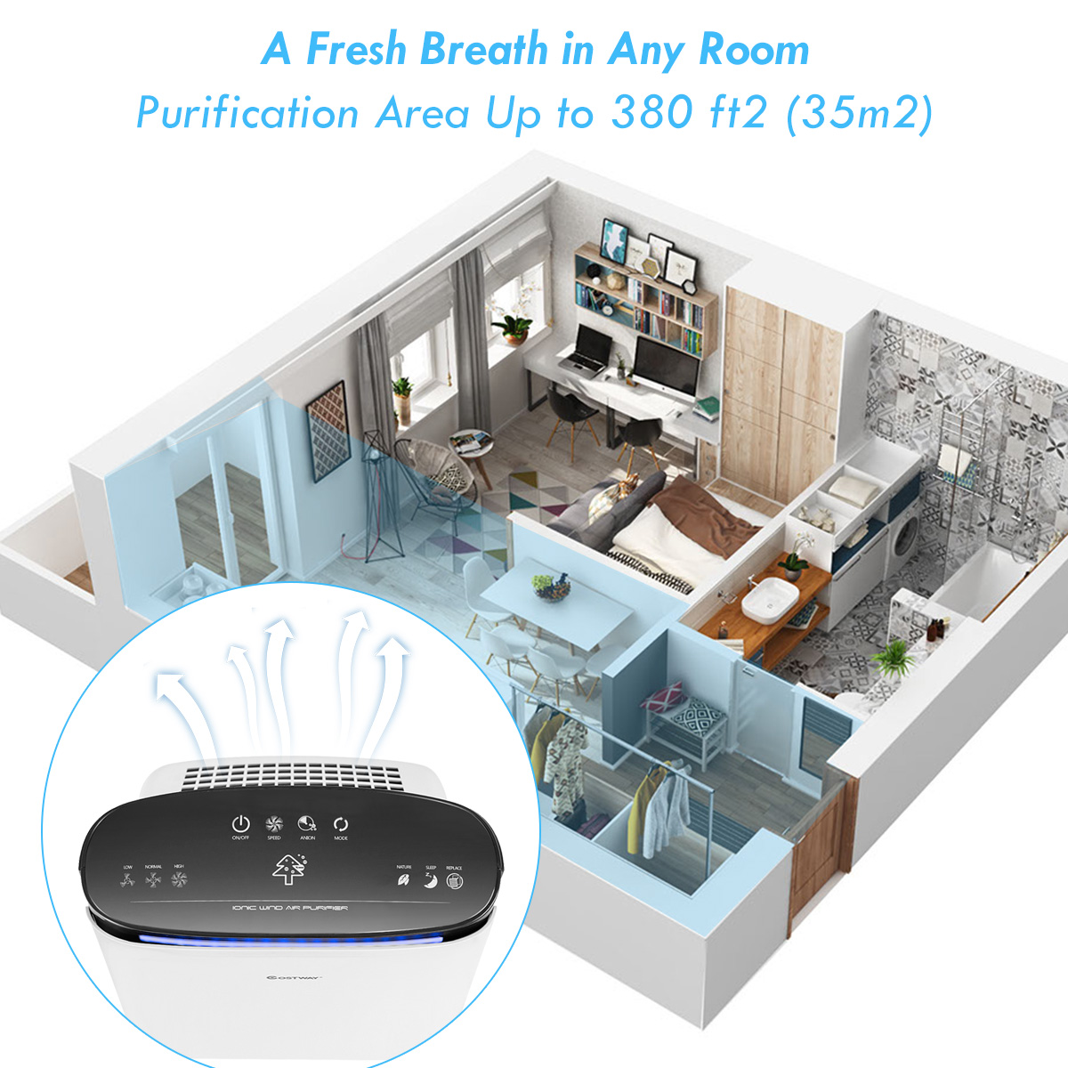 Powerful-Air-Purifier-Cleaner-HEPA-Filter-to-Remove-Odor-Dust-Mold-Smoke thumbnail 4