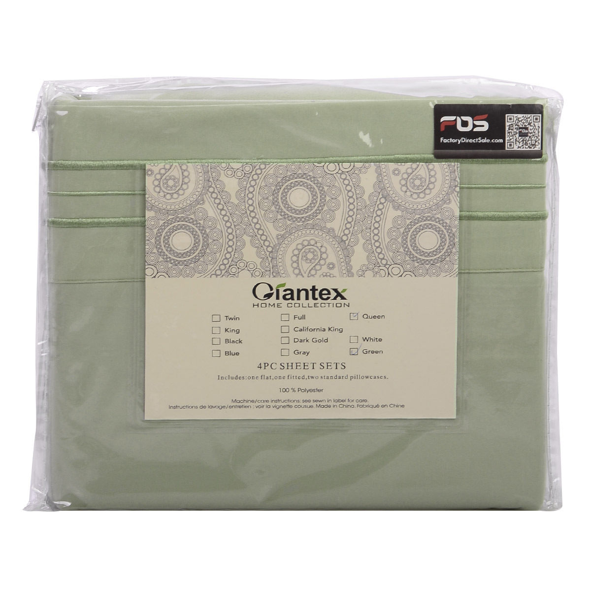 4-Piece-Bed-Sheet-Set-Deep-Pocket-6-Color-5-Size-Available-New