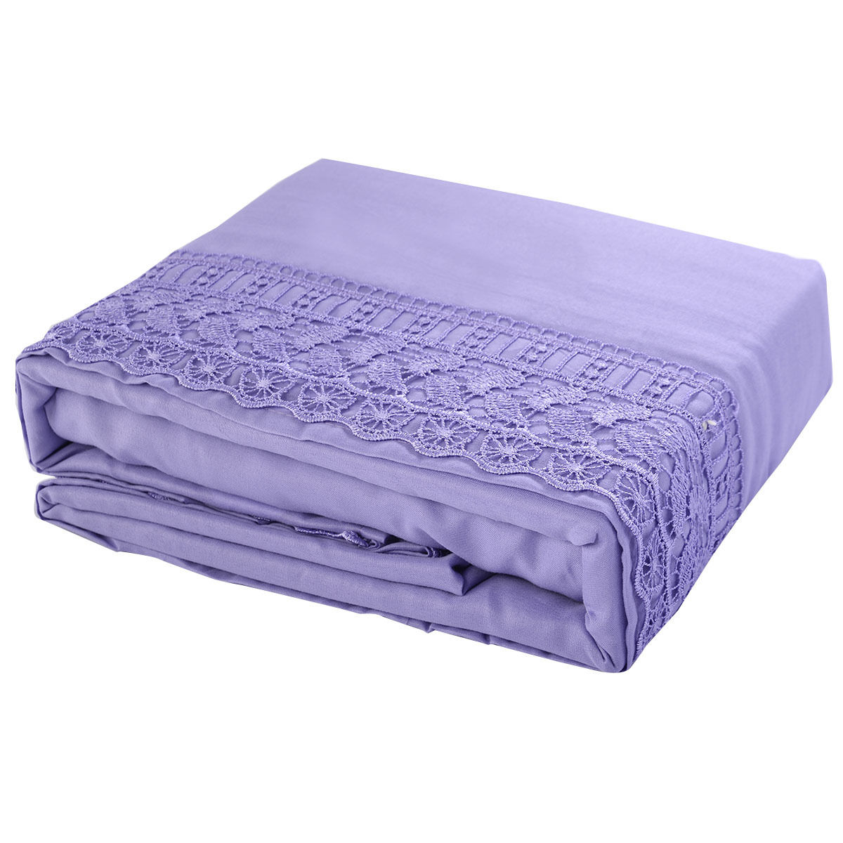 1600-Count-4-Piece-Bed-Sheet-Set-Deep-Pocket-6-Color-5-Size-Chemical-Lace-New thumbnail 23