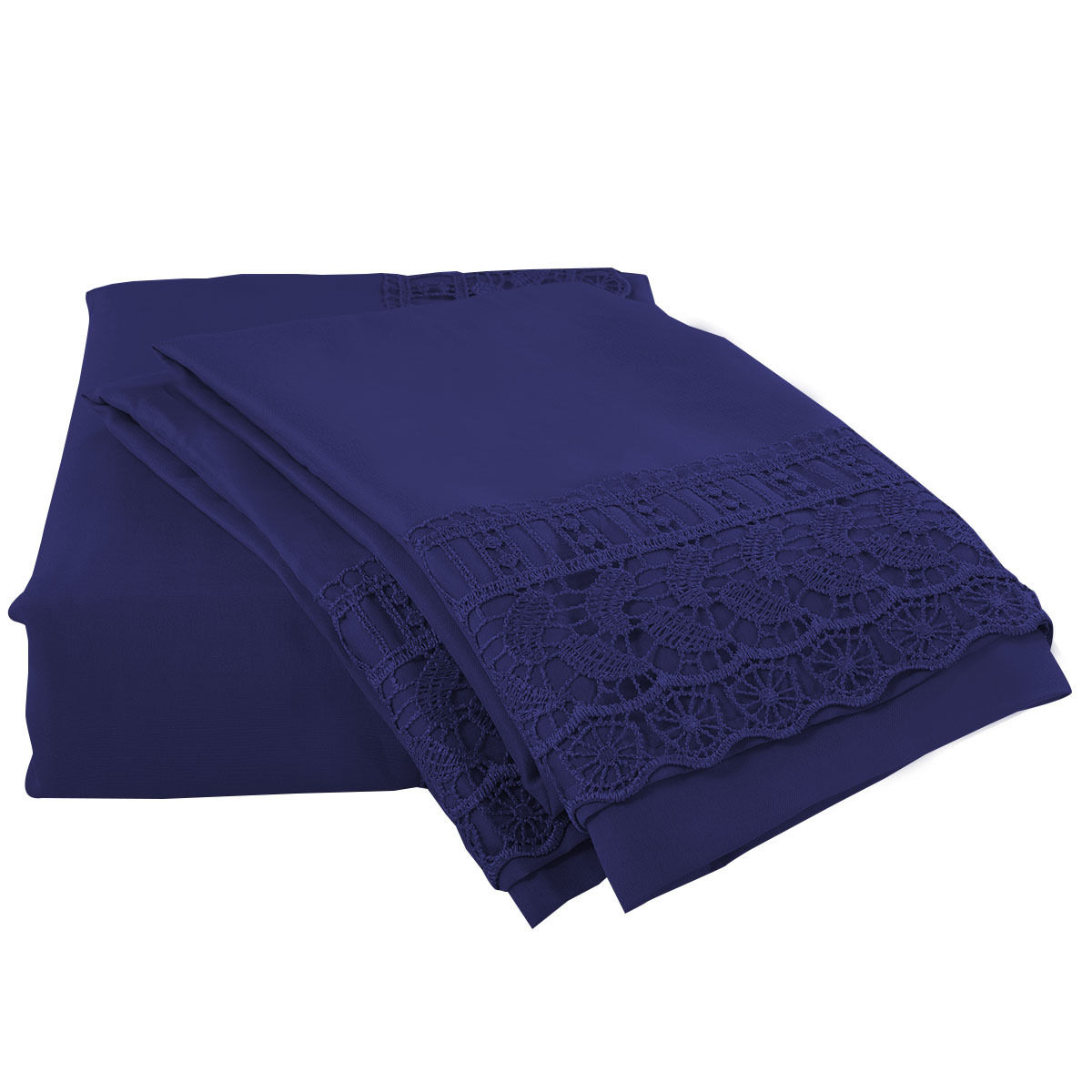 1600-Count-4-Piece-Bed-Sheet-Set-Deep-Pocket-6-Color-5-Size-Chemical-Lace-New