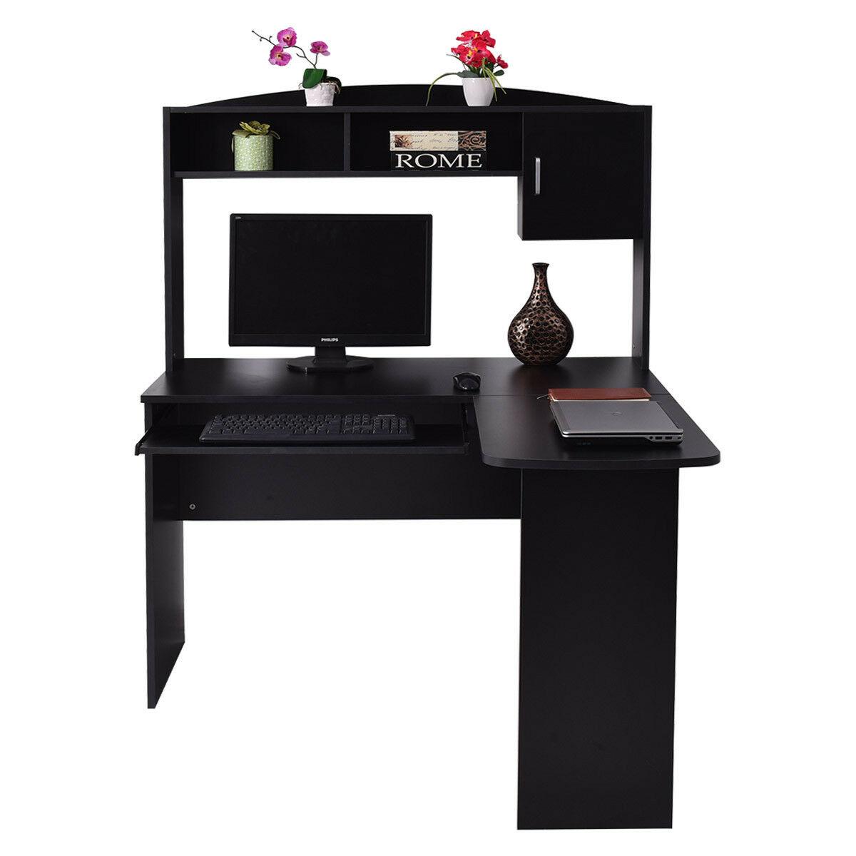 Details about Corner Computer Desk L-Shaped Workstation Home Office Student  Furniture 3 Color