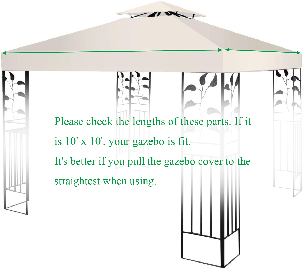 10-039-X-10-039-Gazebo-Top-Cover-Patio-Canopy-Replacement-1-Tier-or-2-Tier-3-Color thumbnail 40