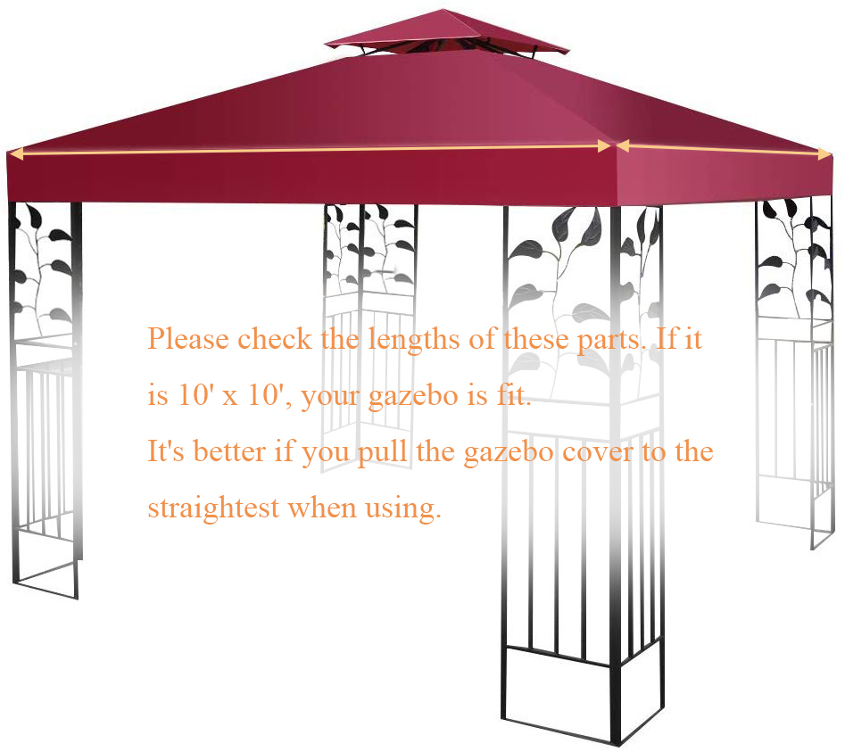 10-039-X-10-039-Gazebo-Top-Cover-Patio-Canopy-Replacement-1-Tier-or-2-Tier-3-Color thumbnail 60