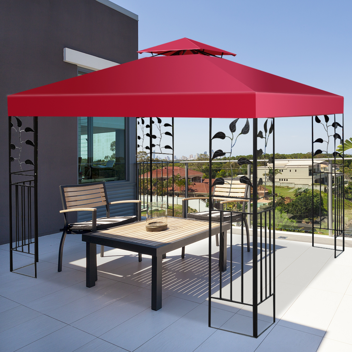 10-039-X-10-039-Gazebo-Top-Cover-Patio-Canopy-Replacement-1-Tier-or-2-Tier-3-Color thumbnail 53