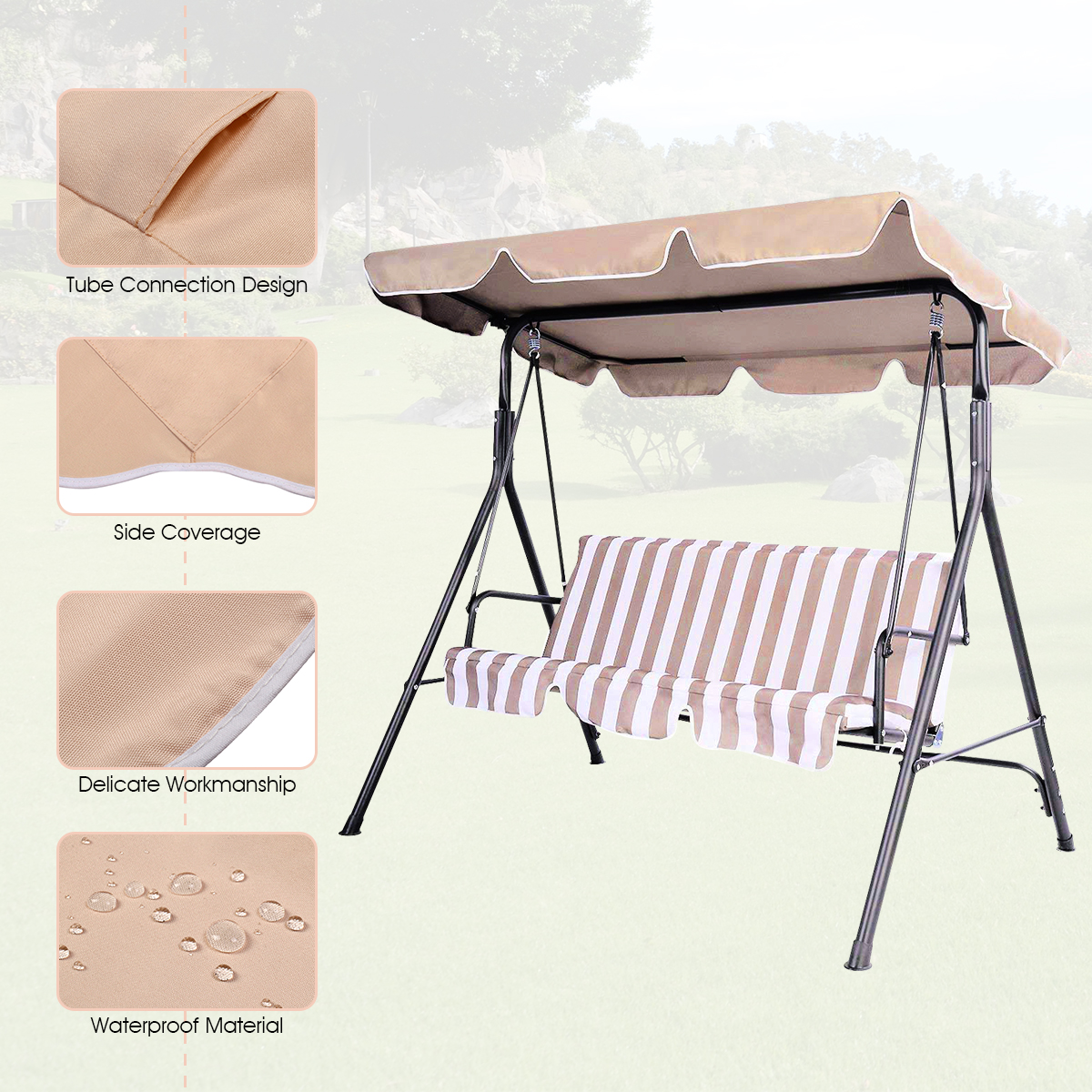 Swing-Top-Cover-Canopy-Replacement-Porch-Patio-Outdoor-66-034-x45-034-75-034-x52-034-77-034-x43-034 thumbnail 11