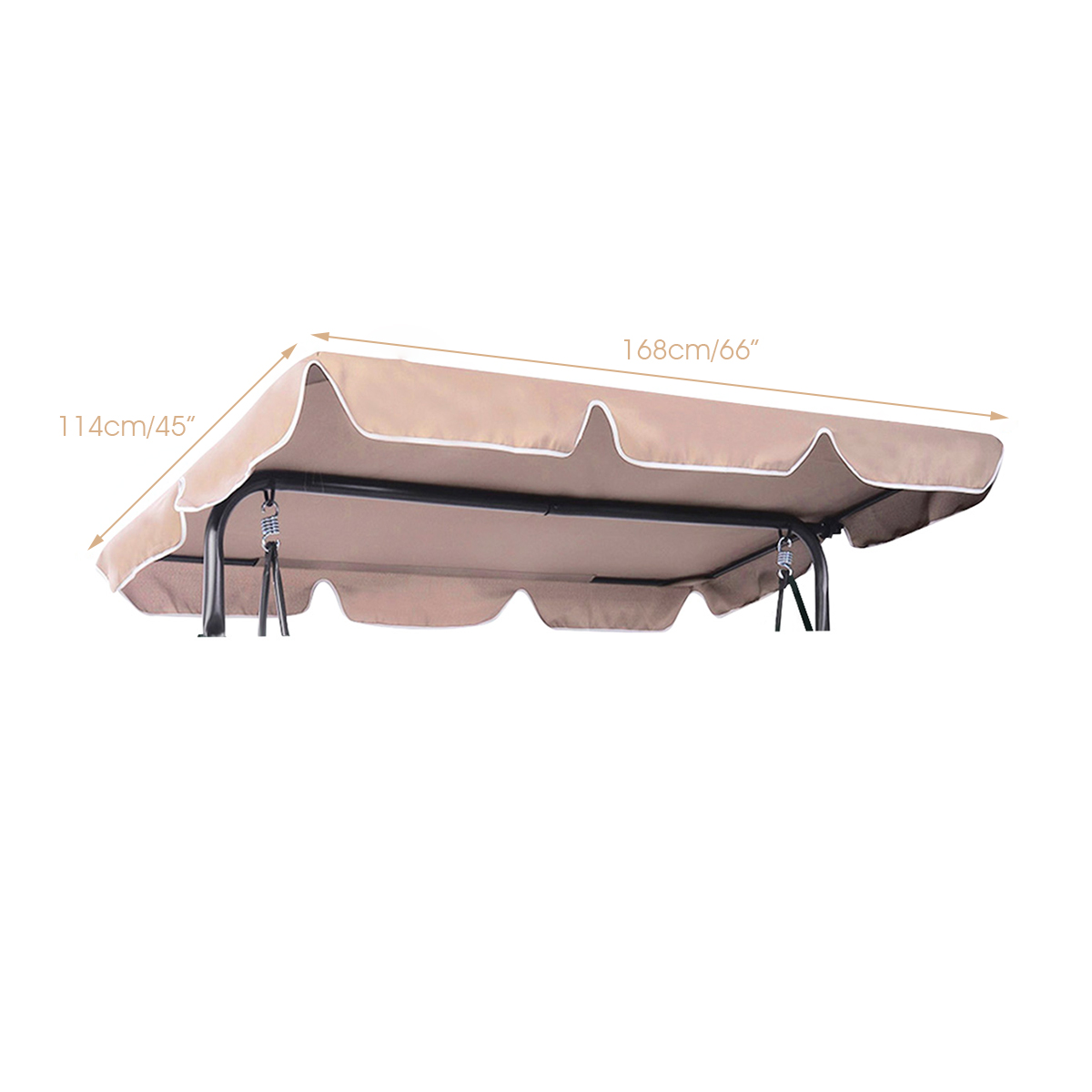 Swing-Top-Cover-Canopy-Replacement-Porch-Patio-Outdoor-66-034-x45-034-75-034-x52-034-77-034-x43-034 thumbnail 3