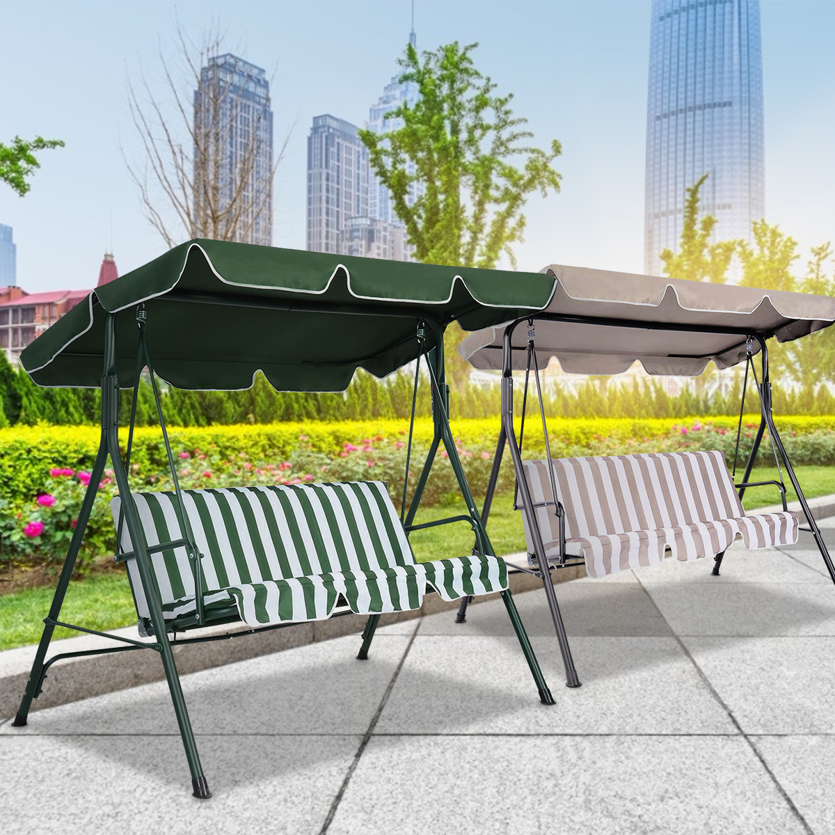 Swing-Top-Cover-Canopy-Replacement-Porch-Patio-Outdoor-66-034-x45-034-75-034-x52-034-77-034-x43-034 thumbnail 6