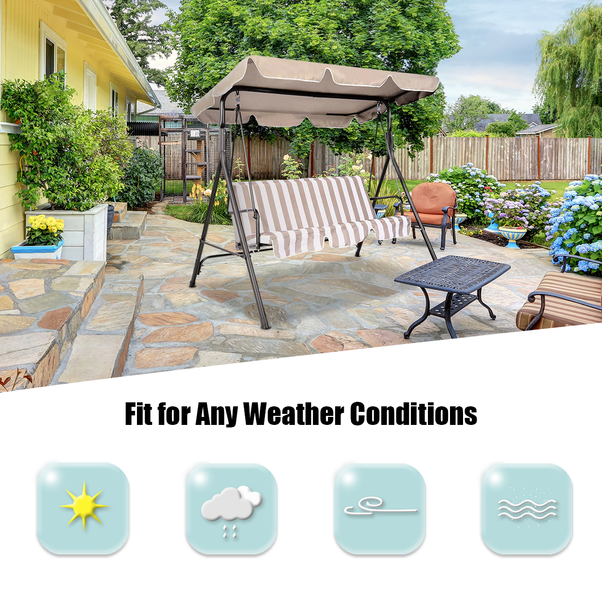 Swing-Top-Cover-Canopy-Replacement-Porch-Patio-Outdoor-66-034-x45-034-75-034-x52-034-77-034-x43-034 thumbnail 8