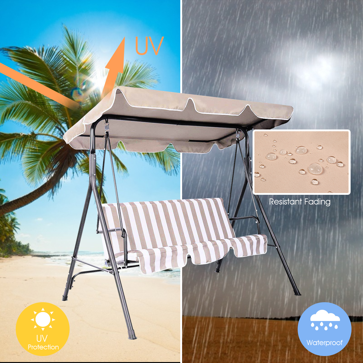 Swing-Top-Cover-Canopy-Replacement-Porch-Patio-Outdoor-66-034-x45-034-75-034-x52-034-77-034-x43-034 thumbnail 9