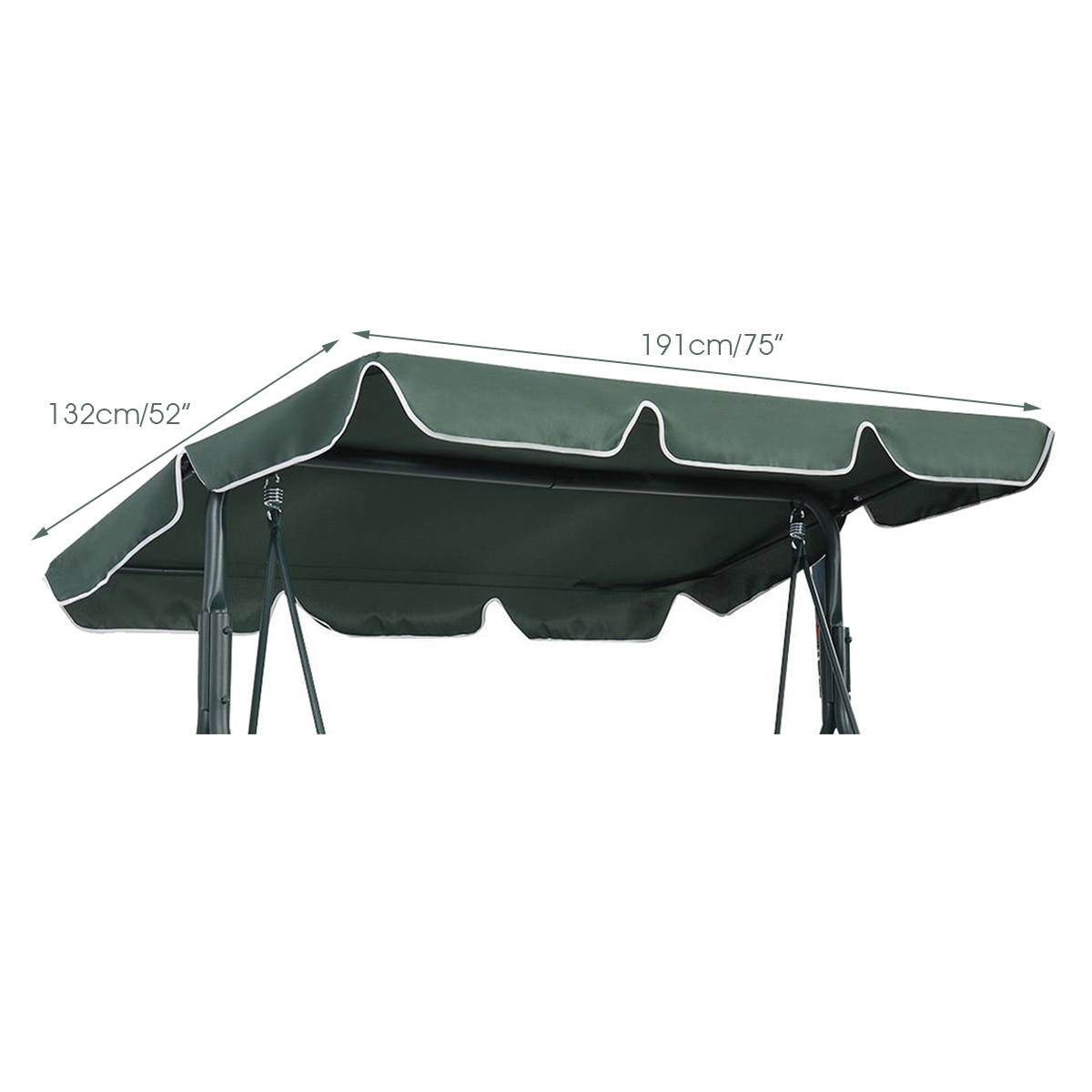 Swing-Top-Cover-Canopy-Replacement-Porch-Patio-Outdoor-66-034-x45-034-75-034-x52-034-77-034-x43-034 thumbnail 14
