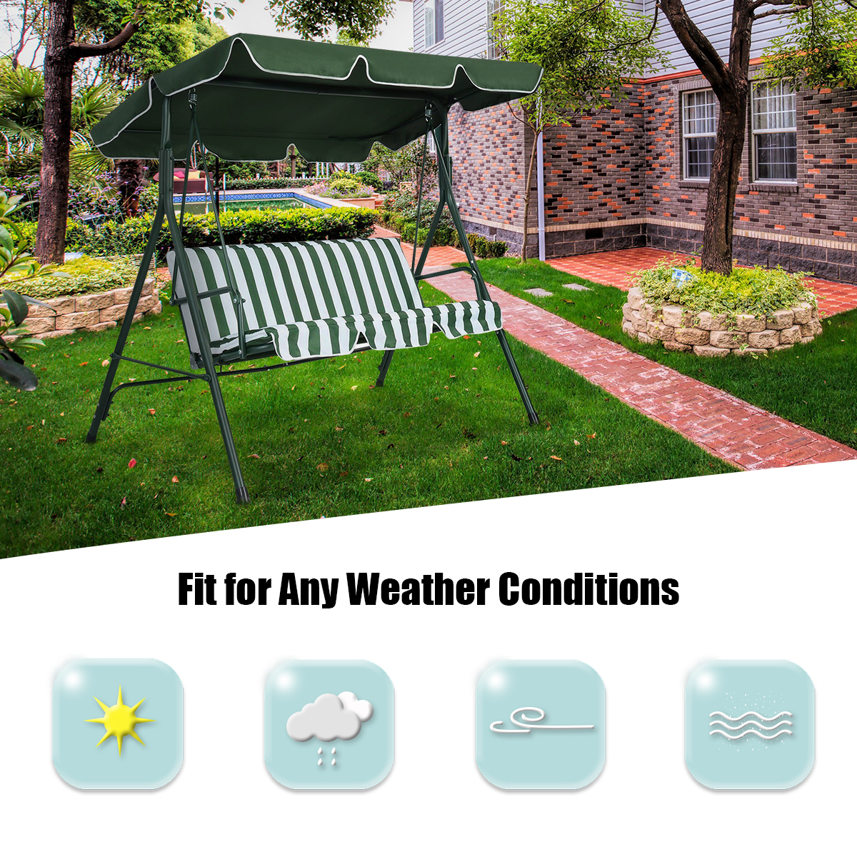 Swing-Top-Cover-Canopy-Replacement-Porch-Patio-Outdoor-66-034-x45-034-75-034-x52-034-77-034-x43-034 thumbnail 18