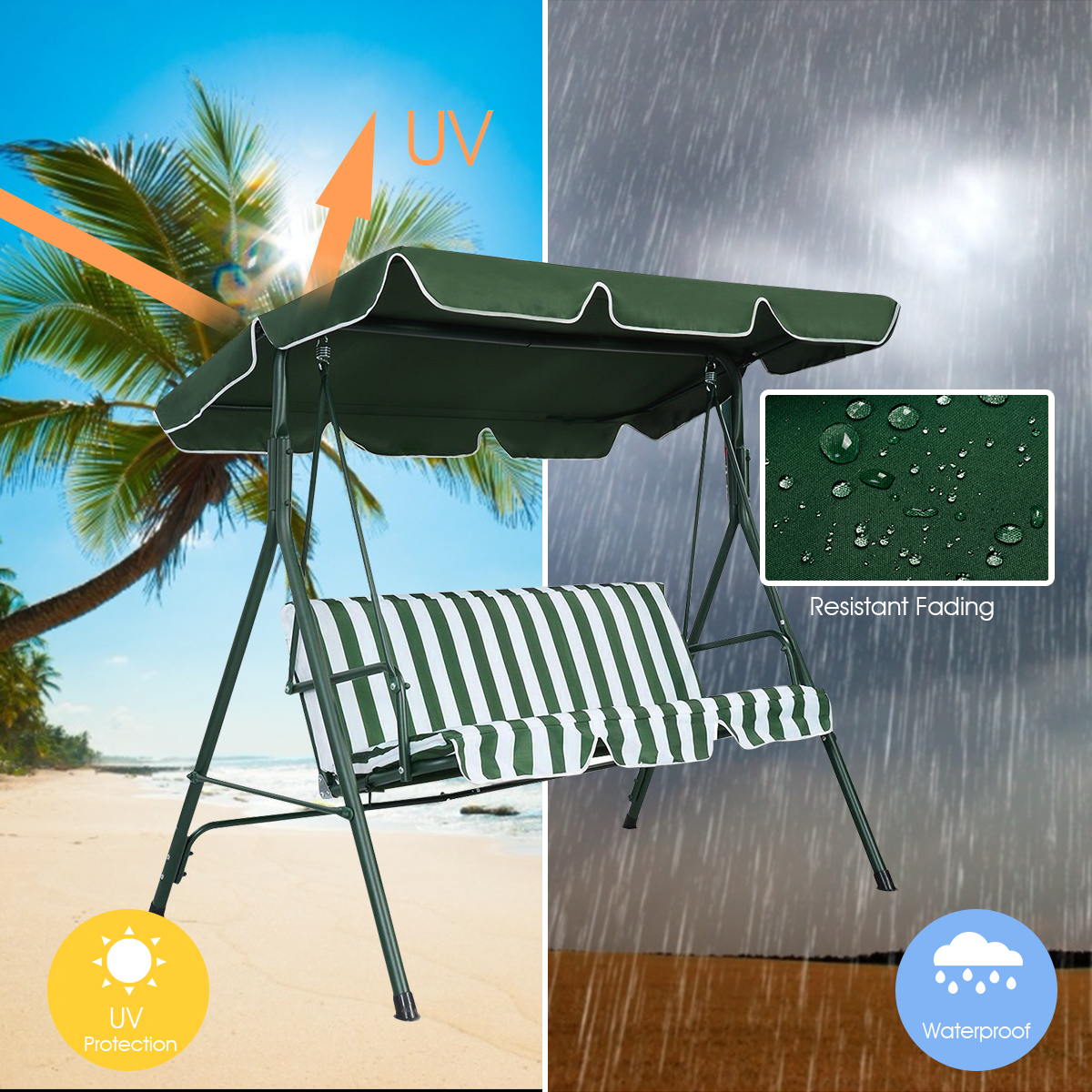 Swing-Top-Cover-Canopy-Replacement-Porch-Patio-Outdoor-66-034-x45-034-75-034-x52-034-77-034-x43-034 thumbnail 19