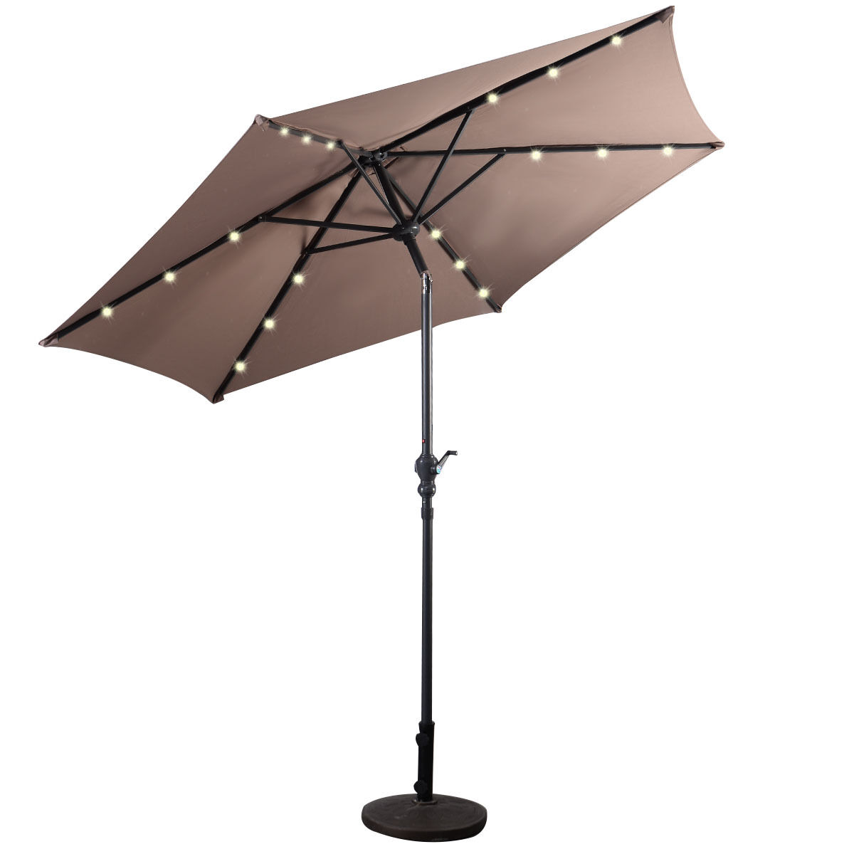 9FT-Patio-Solar-Umbrella-LED-Patio-Market-Steel-Tilt-W-Crank-Outdoor-GOPLUS-New thumbnail 33