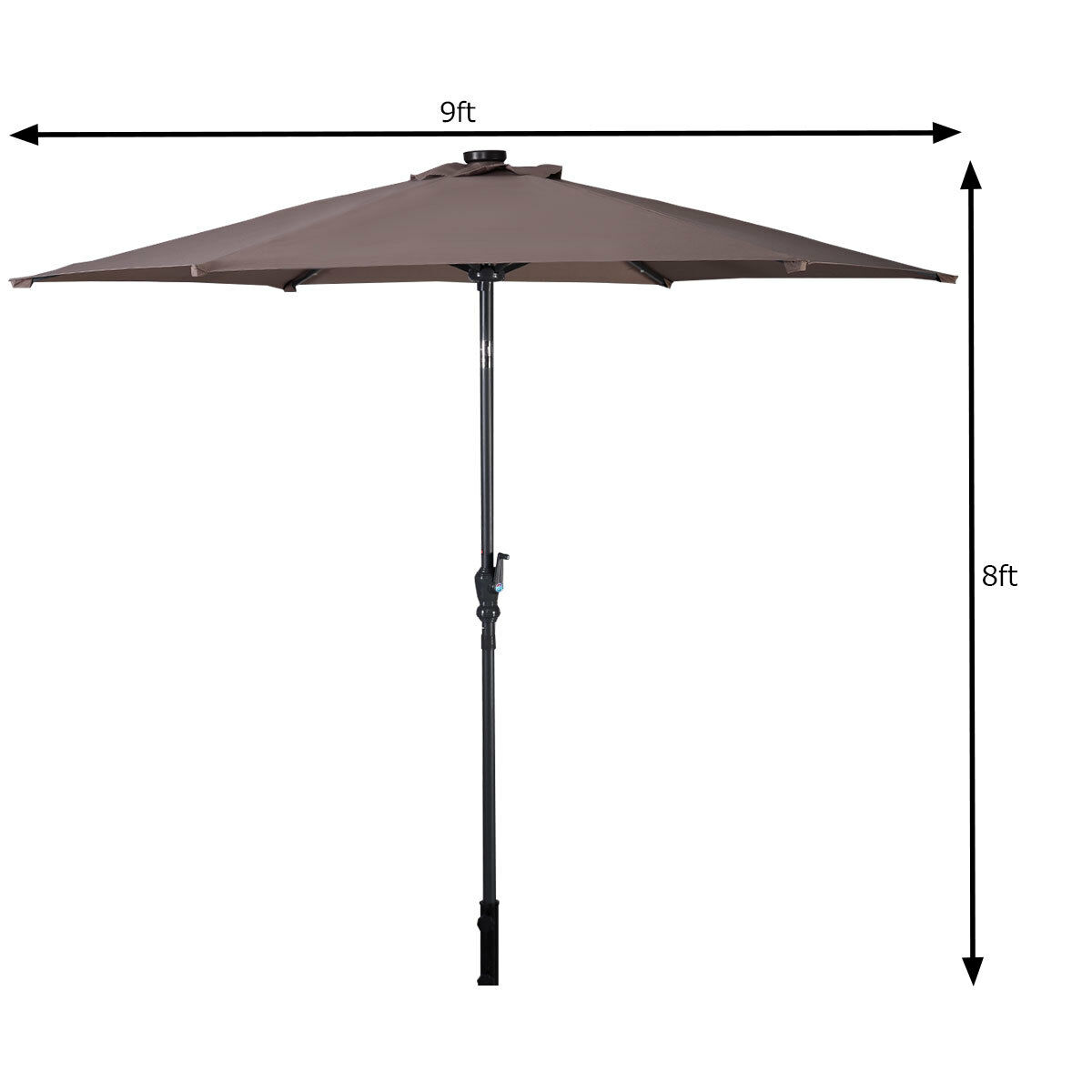 9FT-Patio-Solar-Umbrella-LED-Patio-Market-Steel-Tilt-W-Crank-Outdoor-GOPLUS-New thumbnail 29
