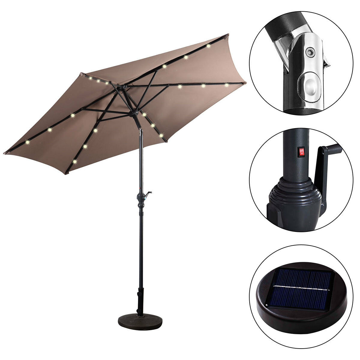 9FT-Patio-Solar-Umbrella-LED-Patio-Market-Steel-Tilt-W-Crank-Outdoor-GOPLUS-New thumbnail 28